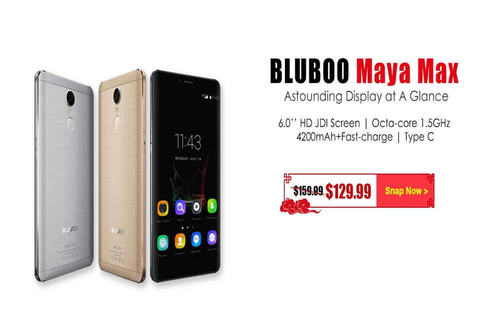 Bluboo Maya Max Price cut $129.99