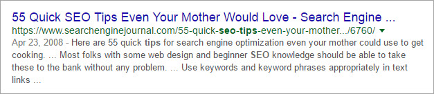 Good Example for SEO Friendly Title - 1