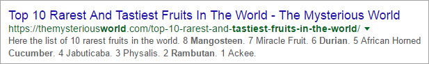 Good Example for SEO Friendly Title - 2