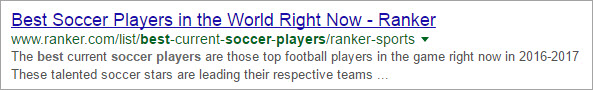 Good Example for SEO Friendly Title - 3