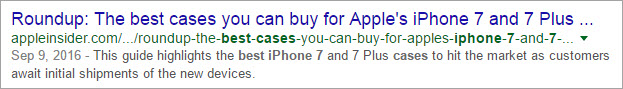 Good Example for non-SEO Friendly Title - 2