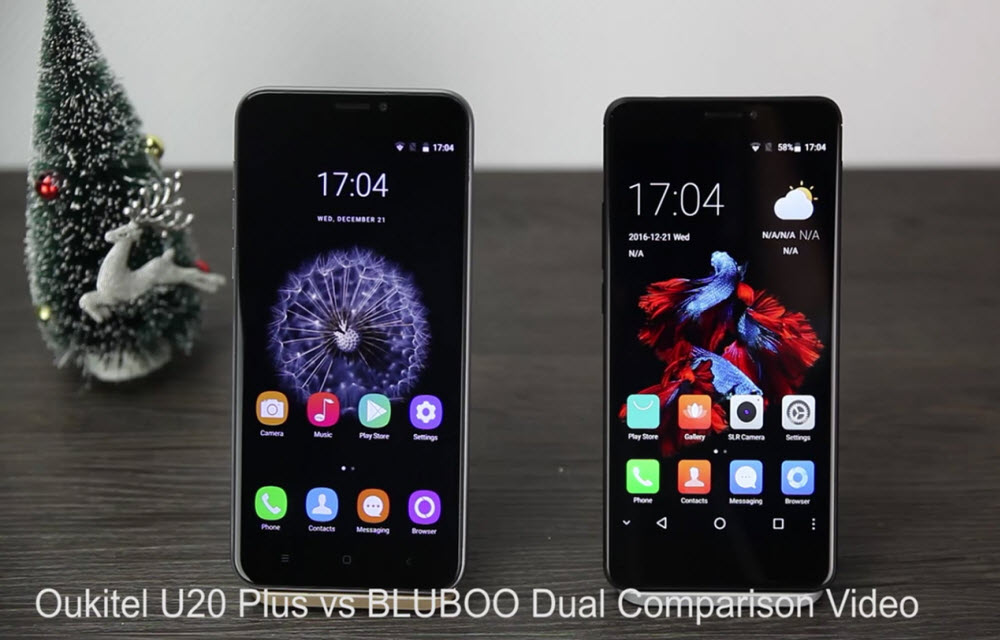Hands-on Comparison Video BLUBOO Dual vs Oukitel U20 Plus