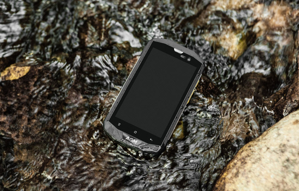 AGM A8 - IP68 Rugged Budget Smartphone running Android 7.0 Nougat