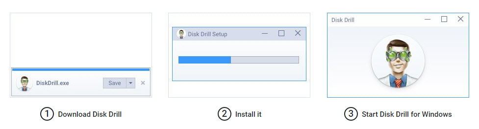 Disk Drill recovery software Installation