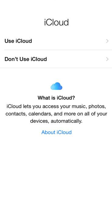 Enable iCloud