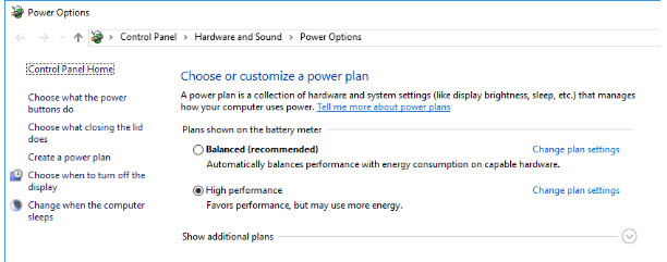 Ensure Power Configs in Favor Performance