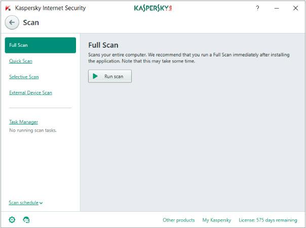 For Kaspersky Internet Security