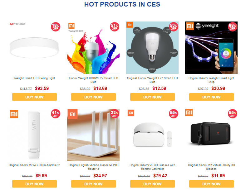 GearBest CES 2017 Sale Hot Products