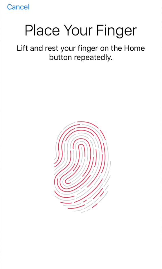 Set Up Touch ID Fingerprint on iPhone