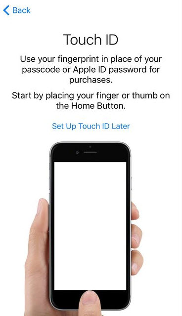 Touch ID in Apple