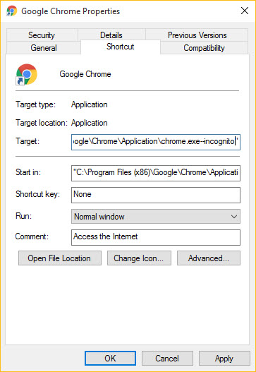 inprivate browsing google chrome