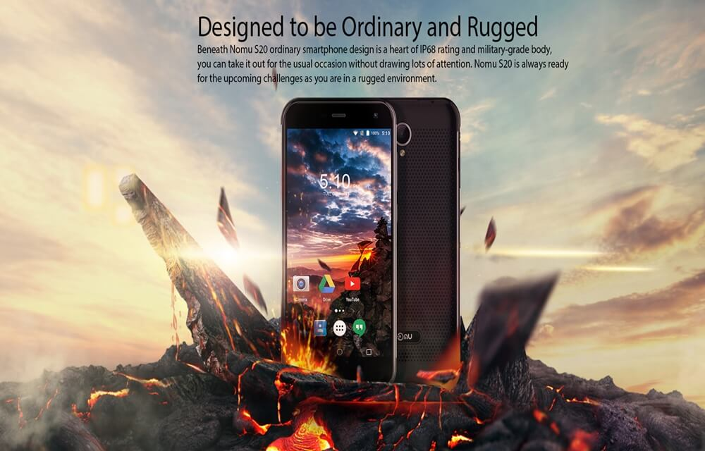 Nomu S20 3GB RAM Rugged smartphone