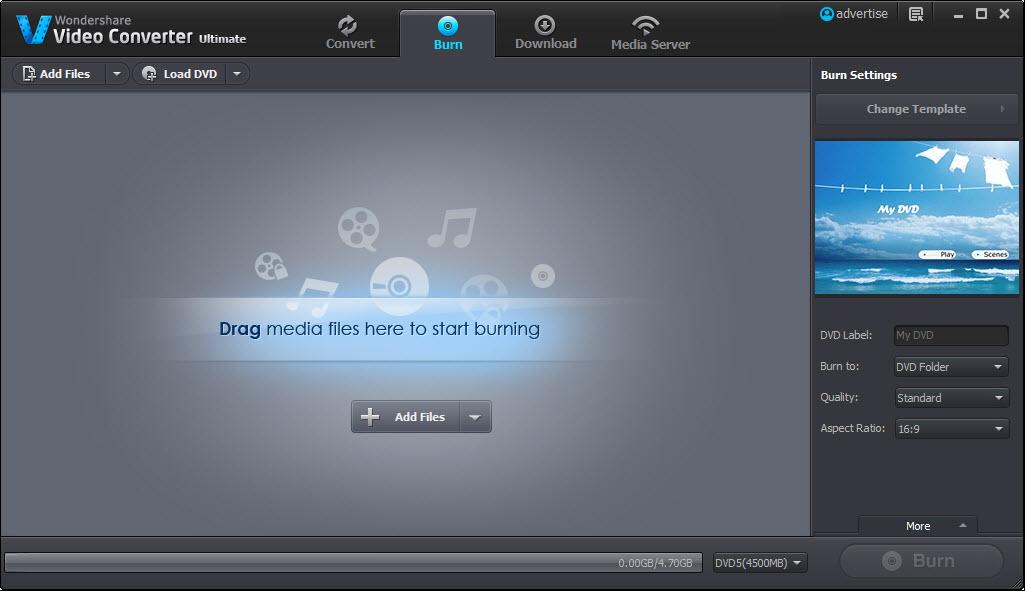 Burn Feature Wondershare Video Converter Ultimate