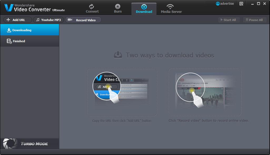 Download Videos using the Wondershare Video Converter Ultimate