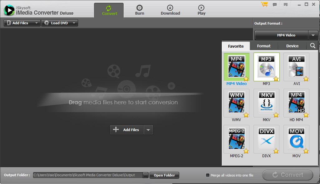 iSkysoft iMedia Converter Video Formats