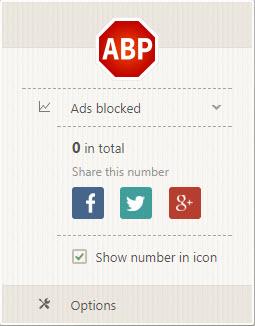Adblock Plus Interface