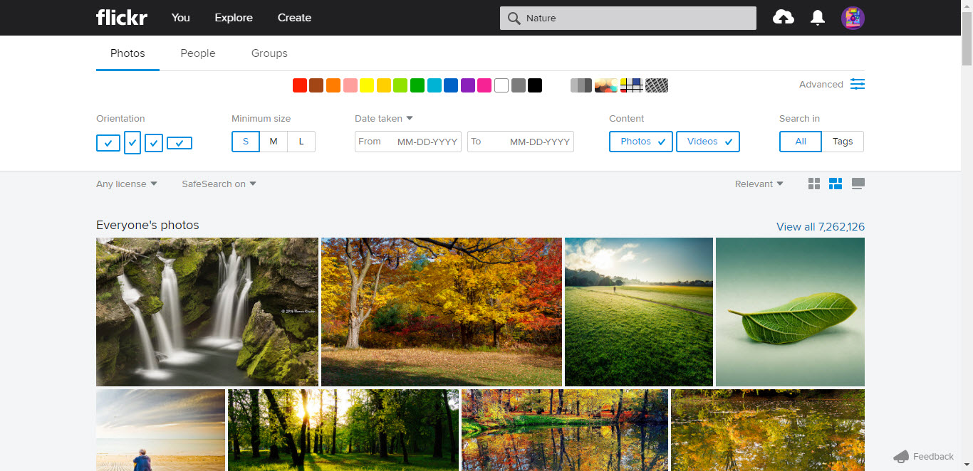 Flickr Advanced Image Search