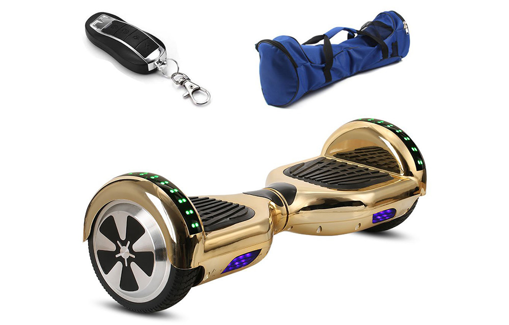 HoverboardEX 6 5 Gold Hoverboard with Bluetooth Speaker & Bag Review
