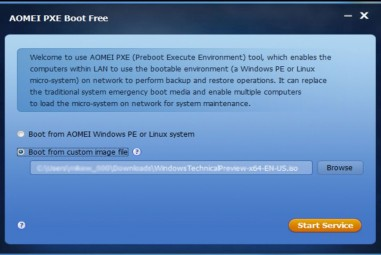 AOMEI PXE Boot Free: Boot Your Computers From An Image File On Network