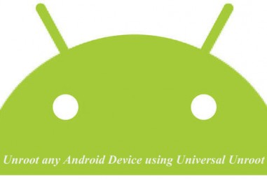 Unroot any Android Device using Universal Unroot