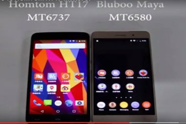 Homtom HT17 MT6737 Processor Vs. Bluboo Maya MT6580 Processor and Specs Compared