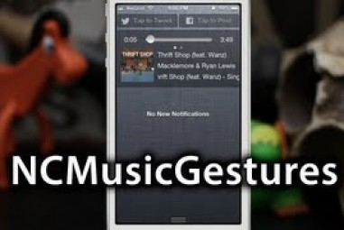 Control your iOS Music in Notification Center with Gestures