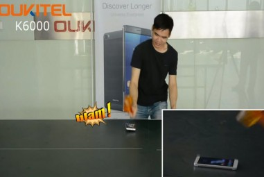 Oukitel K6000 Phone Survives Powerful Hammer Test