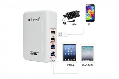 aLLreLi 34W / 6.8A 4-Port USB Wall Charger and Portable Travel Charger Review