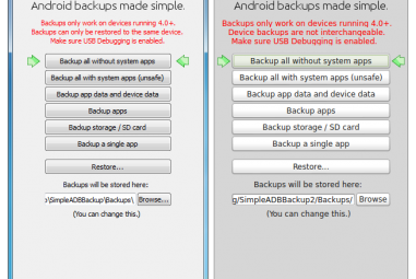 Simple ADB Backup Tool For Android No Rooting Required.